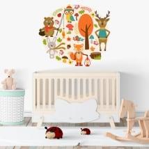 Vinilos bebé animales infantiles