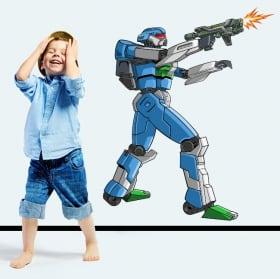 Vinilos y pegatinas robot combate