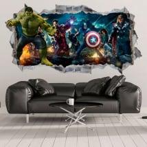 Vinilos decorativos y pegatinas de hulk 3d