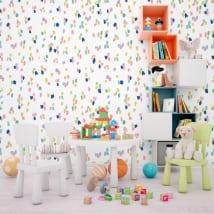 Fotomurales de vinilos con trazos de colores