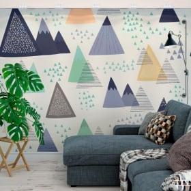 Fotomurales triángulos decoración nórdica