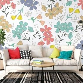 Murales flores para decorar