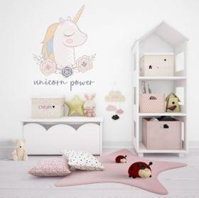 Pegatinas y vinilos decorativos unicorn power