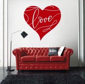Vinilos decorativos corazón love