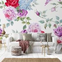 Fotomurales de vinilos con rosas