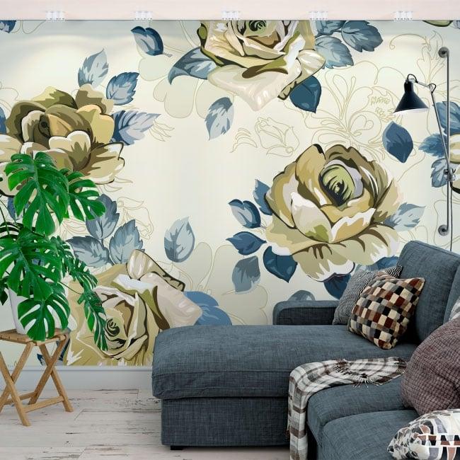 Fotomurales de vinilos flores para decorar