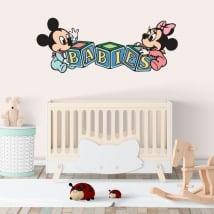 Vinilos paredes disney mickey y minnie bebés