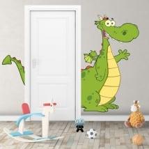 Vinilos decorativos infantiles dragón para puertas