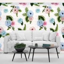 Fotomurales de vinilos flores con frases