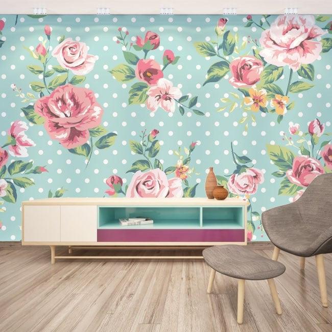 Murales adhesivos con flores para decorar