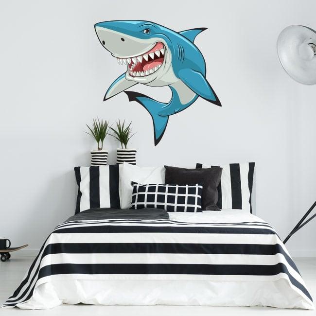 Pegatinas y vinilos decorativos tiburón