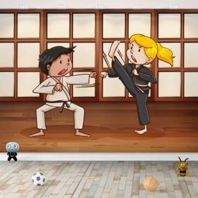 Pegatinas y vinilos infantiles artes marciales karate