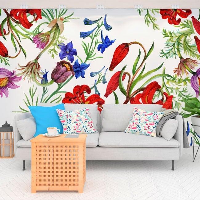 Murales de vinilos con flores