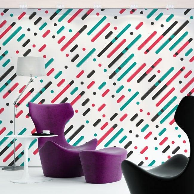 Fotomurales de vinilos líneas y círculos de colores