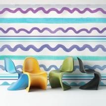 Fotomurales de vinilos adhesivos trazos de colores