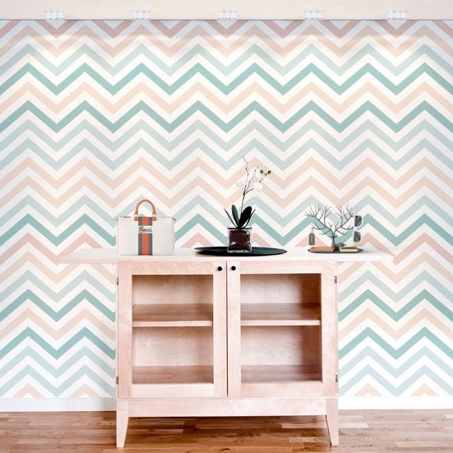 Murales de vinilos adhesivos líneas o trazos zigzag