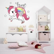 Vinilos y pegatinas infantiles unicornio magic