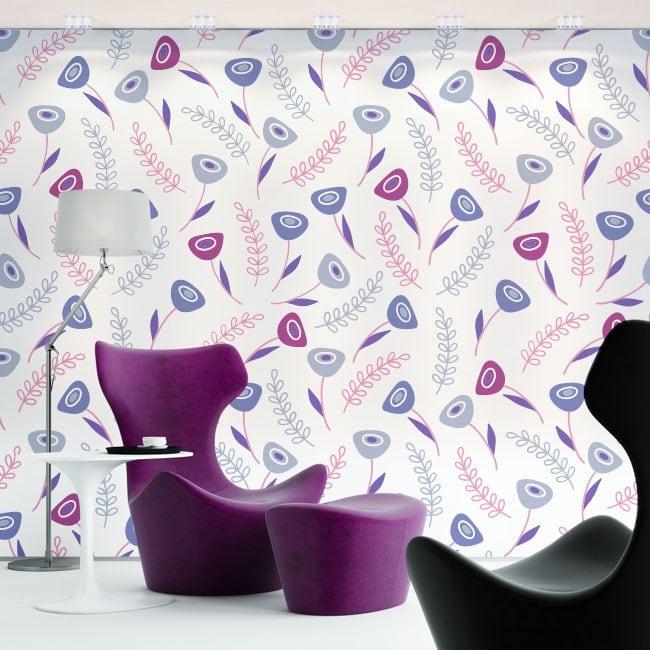 Fotomurales de vinilos flores violetas