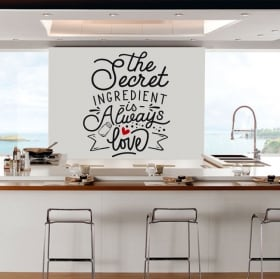 Vinilos decorativos frases inglés the secret ingredient