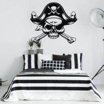 Vinilos decorativos y pegatinas calavera pirata