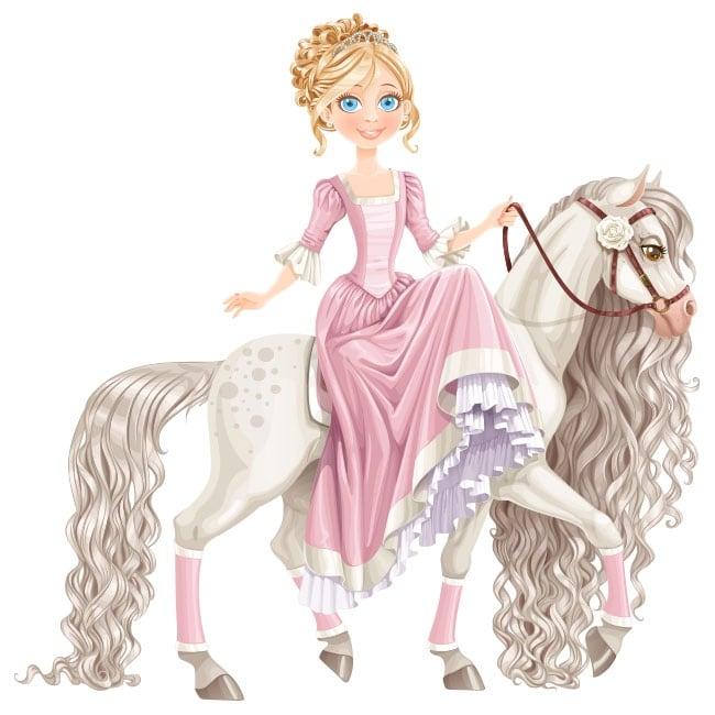 Vinilos De Caballos Infantiles.Vinilos Decorativos Infantiles Princesa Y Caballo