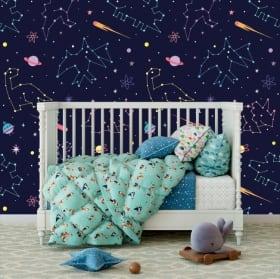 Fotomurales de vinilos infantiles constelación
