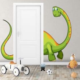 Vinilos decorativos infantiles dinosaurio para puertas