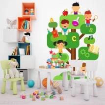 Vinilos y pegatinas infantiles el árbol del conocimiento