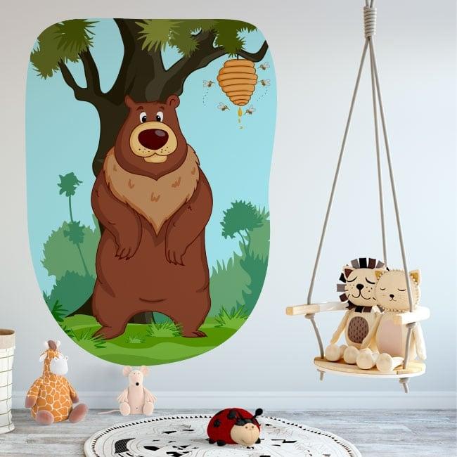 Vinilos decorativos infantiles oso y abejas