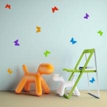 Vinilos decorativos y pegatinas mariposas origami