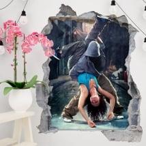 Vinilos decorativos y pegatinas baile urbano 3d