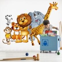 Vinilos decorativos animales infantiles o juveniles