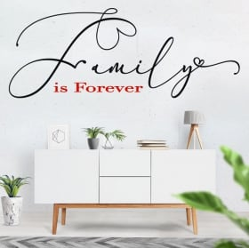 Vinilos frases en inglés motivadoras family is forever