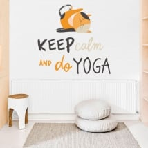 Vinilos decorativos frases en inglés keep calm yoga