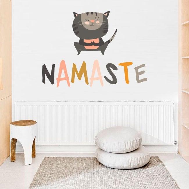 Vinilos decorativos frases de yoga en inglés namaste