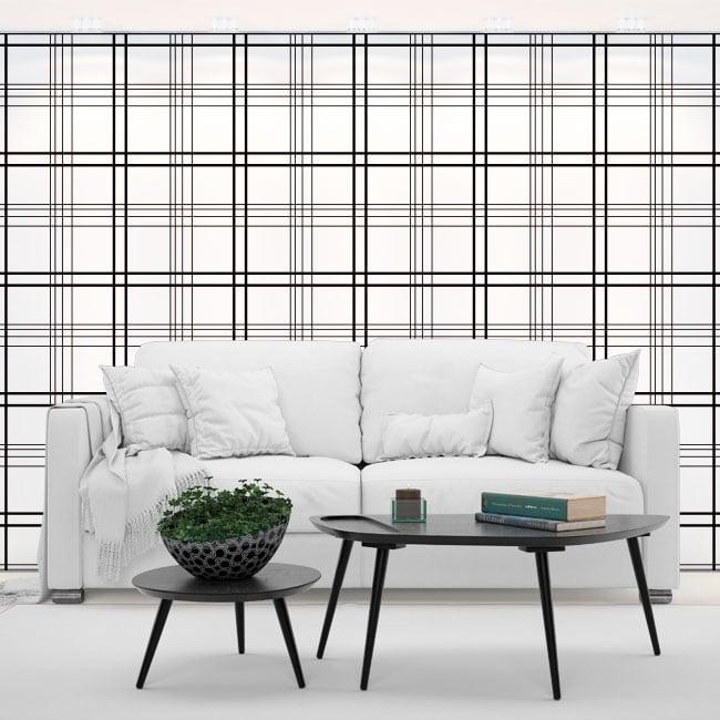Fotomurales vinilos paredes líneas negras