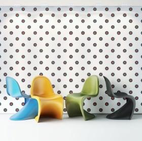 Fotomurales de vinilos paredes flores de colores