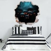 Vinilos paredes apocalipsis zombi 3d