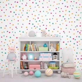 Fotomurales de vinilos paredes chispitas de colores