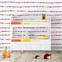 Fotomurales vinilos paredes trazos de colores