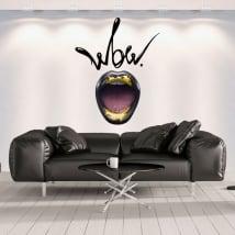 Vinilos decorativos paredes boca wow