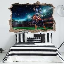 Vinilos paredes fútbol americano 3d