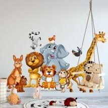 Vinilos paredes animales infantiles o juveniles