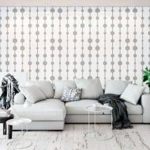 Fotomurales vinilos paredes patrón círculos y líneas