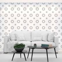 Fotomurales vinilos paredes círculos grises