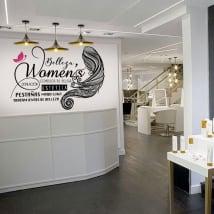 Vinilos decorativos salones de belleza
