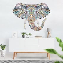 Vinilos decorativos elefante tribal
