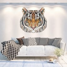 Vinilos paredes tigre tribal