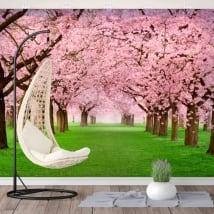 Fotomurales de vinilos árboles flores de cerezo