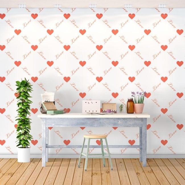 Fotomurales románticos corazones love